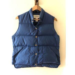 Vintage Navy Blue L.L. Bean Down Puffer Vest